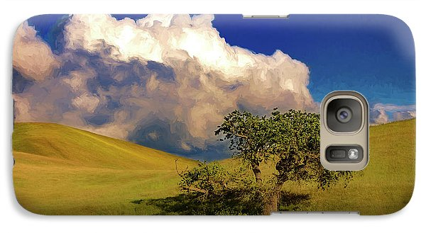 Galaxy Case featuring the photograph Lone Tree With Storm Clouds by John A Rodriguez