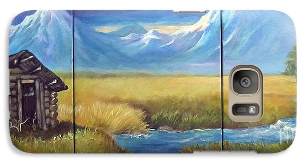 Galaxy Case featuring the painting Lonely Cabin by Carol Hart
