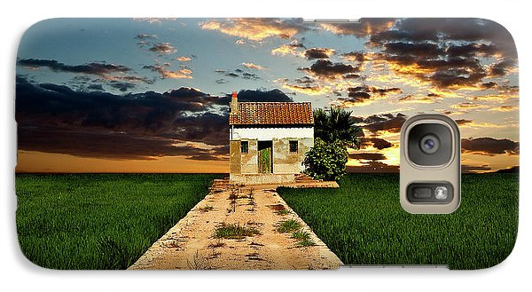Galaxy Case featuring the photograph Lonely Farm House  by Harry Spitz