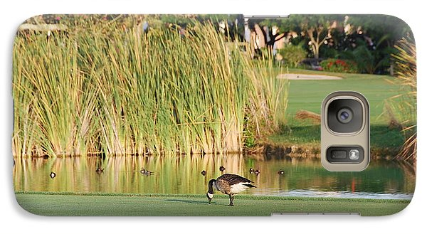 Galaxy Case featuring the photograph Lonely Goose On The Golf Course by Jan Daniels