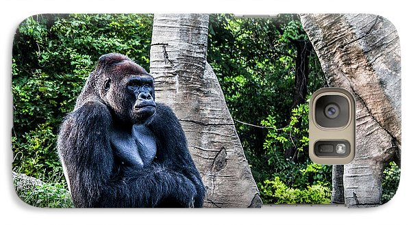 Galaxy Case featuring the photograph Lonely Gorilla by Joann Copeland-Paul