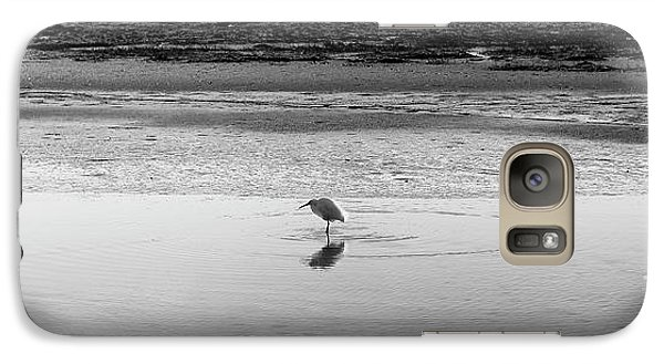 Galaxy Case featuring the photograph Lonely Heron by Nicholas Burningham
