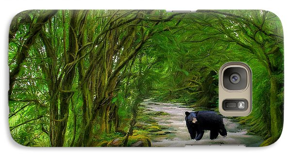 Galaxy Case featuring the painting Lonely Hunter by Steven Richardson
