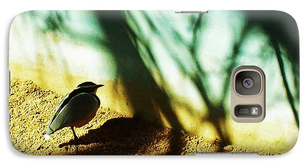 Galaxy Case featuring the photograph Lonely Little Bird by Shawna Rowe