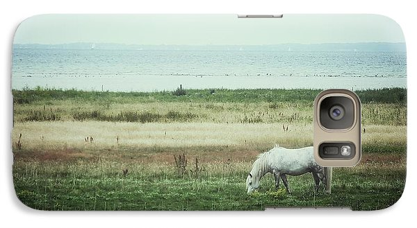 Galaxy Case featuring the photograph Lonely Pony by Karen Stahlros