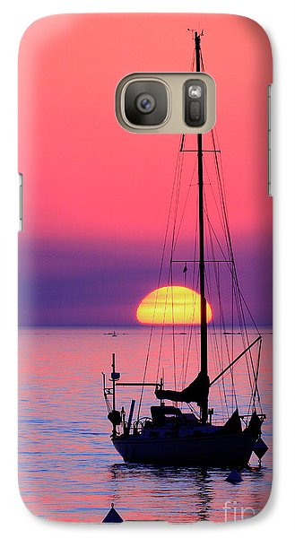 Galaxy Case featuring the photograph Lonely Sunset by Bernardo Galmarini