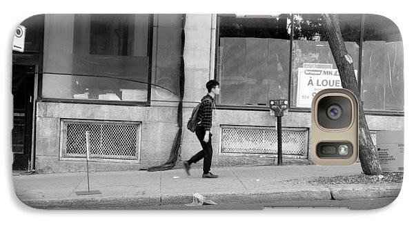Galaxy Case featuring the photograph Lonely Urban Walk by Valentino Visentini