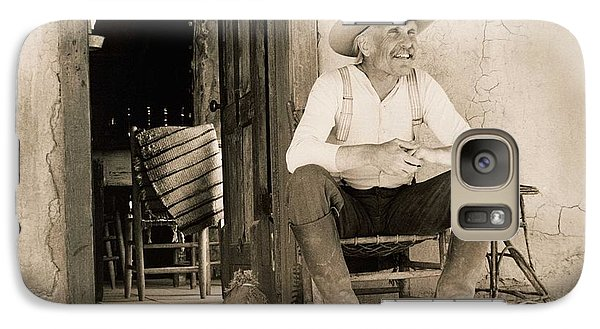 Dove Galaxy S7 Case - Lonesome Dove Gus On Porch  by Peter Nowell