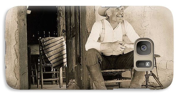 Lonesome Dove Gus On Porch Signed Print Galaxy S7 Case
