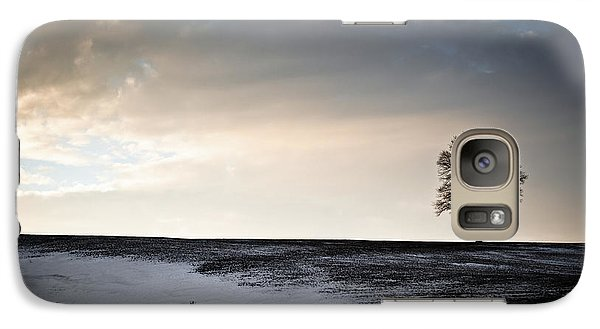 Galaxy Case featuring the photograph Lonesome Tree On A Hill IIi by David Sutton