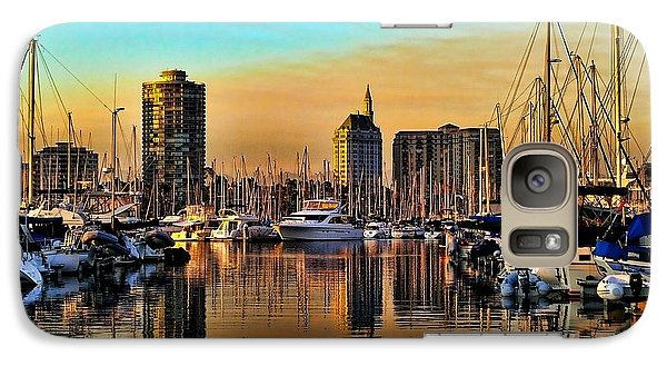 Galaxy Case featuring the photograph Long Beach Harbor by Mariola Bitner