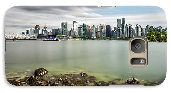 Galaxy Case featuring the photograph Long Exposure Of Vancouver City by Pierre Leclerc Photography