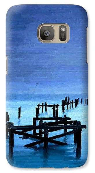 Galaxy Case featuring the painting Long Gone by James Shepherd