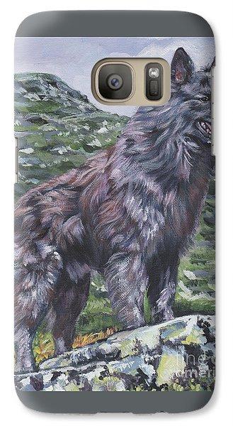 Galaxy Case featuring the painting Long Hair Dutch Shepherd by Lee Ann Shepard