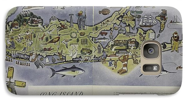 Galaxy Case featuring the photograph Long Island An Interpretive Cartograph by Duncan Pearson