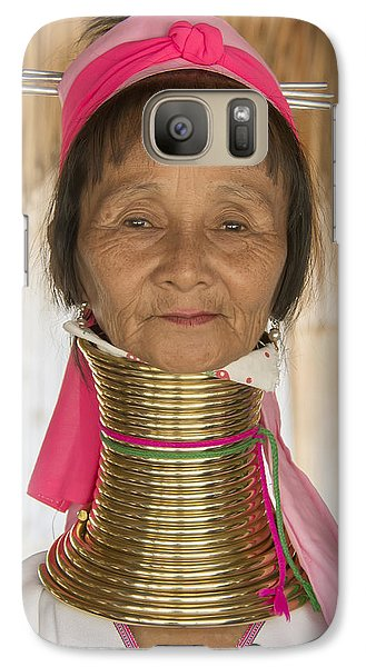 Galaxy Case featuring the photograph Long Necked Karen Woman by Wade Aiken