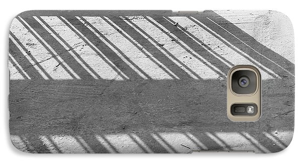 Galaxy Case featuring the photograph Long Shadow Of Metal Gate by Prakash Ghai