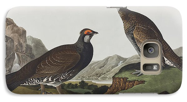 Long-tailed Or Dusky Grous Galaxy Case by John James Audubon
