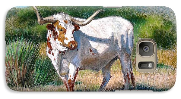 Galaxy Case featuring the painting Longhorn Bull by Sue Halstenberg