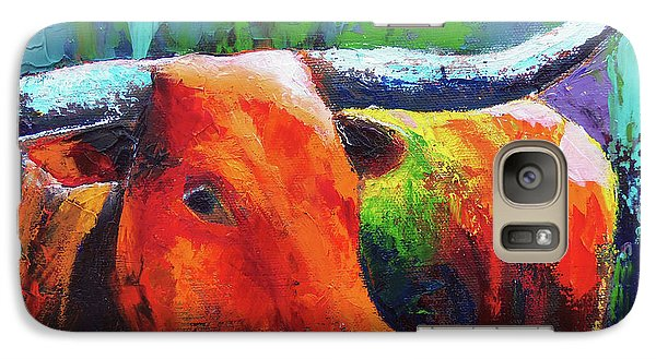 Galaxy Case featuring the painting Longhorn Jewel by Karen Kennedy Chatham