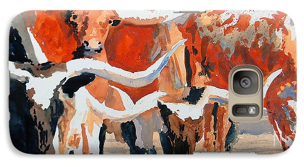 Galaxy Case featuring the painting Longhorn Study #3 by Ron Stephens