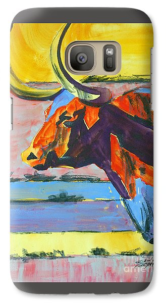 Galaxy Case featuring the painting Longhorn Study#1 by Ron Stephens