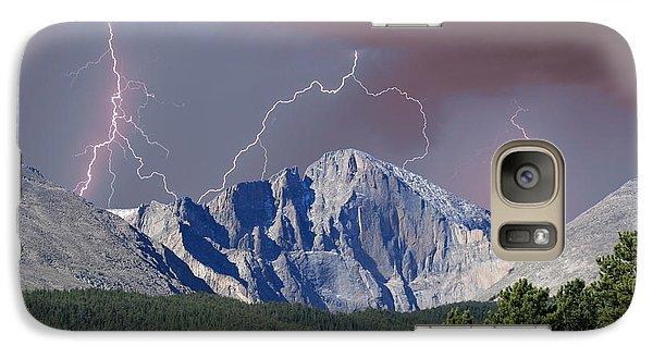 Longs Peak Lightning Storm Fine Art Photography Print Galaxy S7 Case by James BO  Insogna