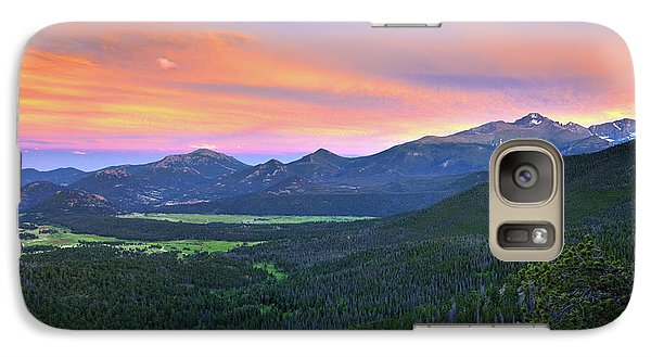 Galaxy Case featuring the photograph Longs Peak Sunset by David Chandler