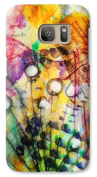 Galaxy Case featuring the mixed media Look Around by Mimulux patricia no No