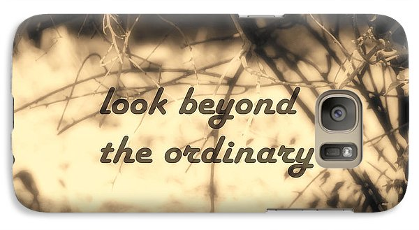Galaxy Case featuring the photograph Look Beyond by Ann Powell