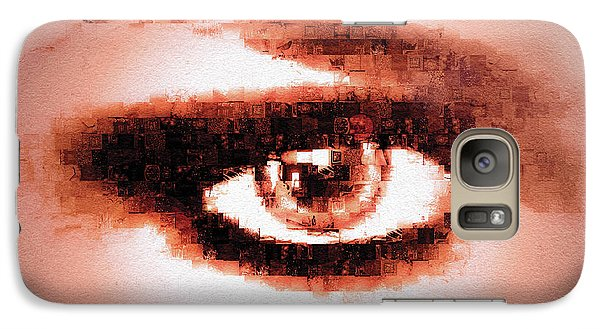 Galaxy Case featuring the digital art Look Into My Eye by Paula Ayers