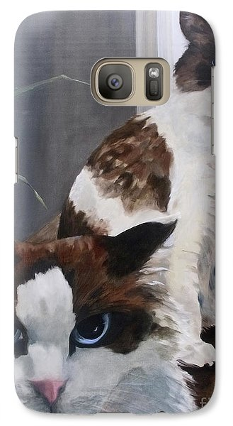 Galaxy Case featuring the painting Look Who Is Grumpy Now by Diane Daigle