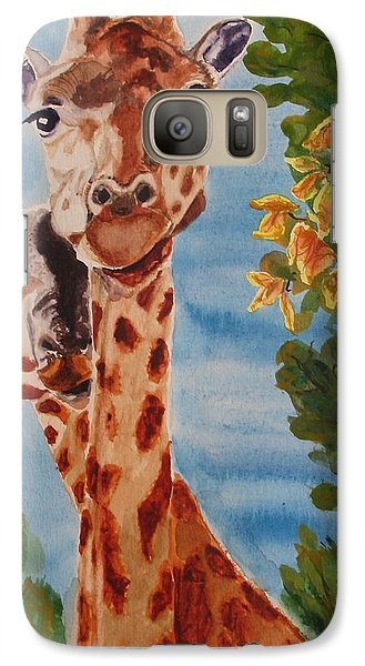Galaxy Case featuring the painting Lookin Back by Karen Ilari