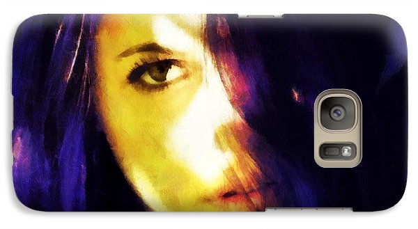 Galaxy Case featuring the digital art Looking At The World With One Eye Is Enough by Gun Legler
