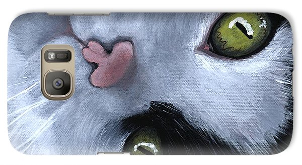 Galaxy S7 Case featuring the painting Looking At You by Anastasiya Malakhova