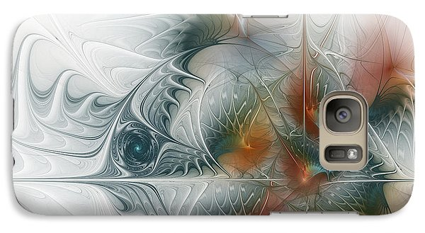 Galaxy Case featuring the digital art Looking Back by Karin Kuhlmann
