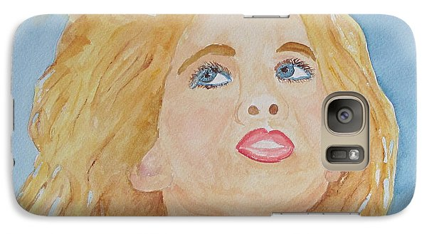 Galaxy Case featuring the painting Looking Back by Sandy McIntire
