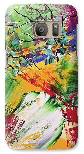 Galaxy Case featuring the painting Looking Beyound The Present by Sima Amid Wewetzer