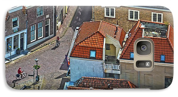 Galaxy Case featuring the photograph Looking Down From The Church Tower In Brielle by Frans Blok
