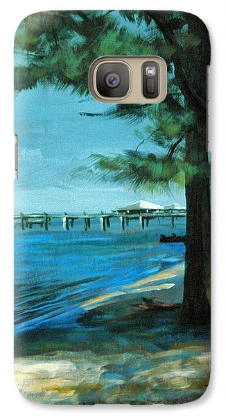 Galaxy Case featuring the painting Looking For Shade by Suzanne McKee