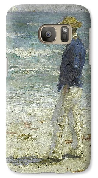 Galaxy Case featuring the painting Looking Out To Sea by Henry Scott Tuke