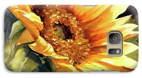 Galaxy Case featuring the painting Looking To The Sun by Bonnie Rinier