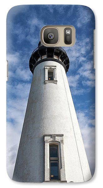 Galaxy Case featuring the photograph Looking Up At The Lighthouse by Mary Jo Allen