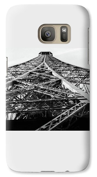 Galaxy Case featuring the photograph Looking Up From The Eiffel Tower by Darlene Berger