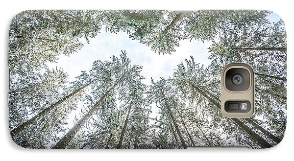 Galaxy Case featuring the photograph Looking Up In The Forest by Hannes Cmarits