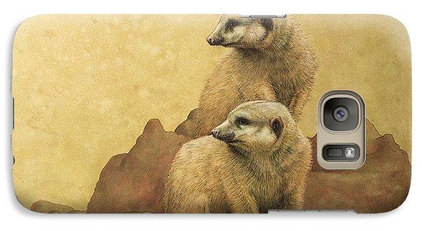Meerkat Galaxy S7 Case - Lookouts by James W Johnson