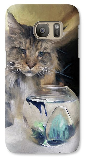 Galaxy Case featuring the digital art Look's Like Dinner's Just About Ready. by James Steele