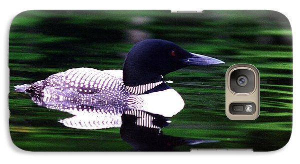 Galaxy Case featuring the photograph Loon On The Lake by Rick Frost