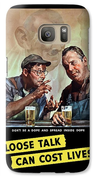 Loose Talk Can Cost Lives - Ww2 Galaxy Case by War Is Hell Store