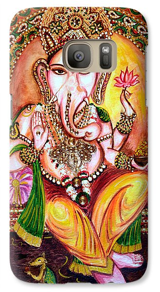 Galaxy Case featuring the painting Lord Ganesha by Harsh Malik